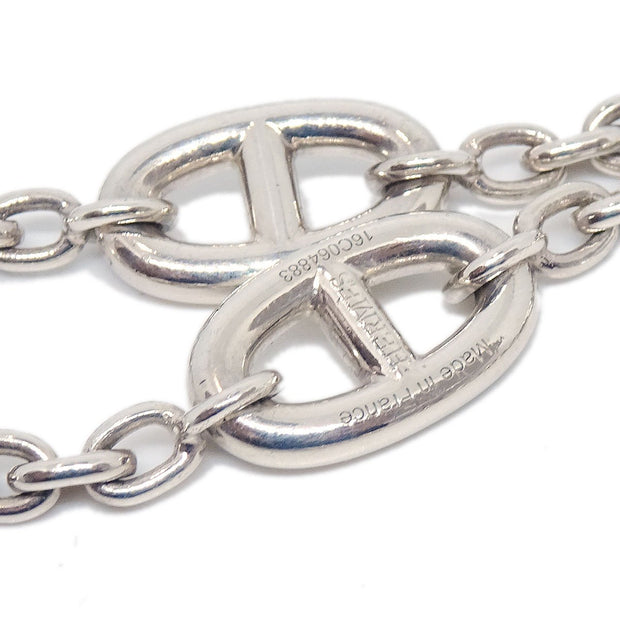HERMES SV925 Silver Chain Farandole Chaine D'Ancre Long Chain Necklace