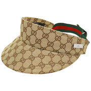 GUCCI Shelly Line Sun Visor Hat Beige Brown #S