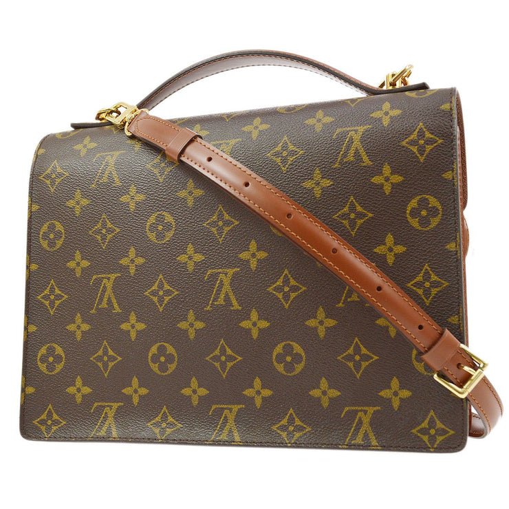 LOUIS VUITTON MONCEAU 28 2WAY HAND BAG SATCHEL MONOGRAM M51185
