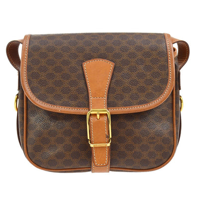 CELINE Macadam Cross Body Shoulder Bag Brown