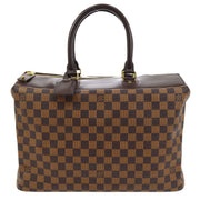 LOUIS VUITTON GREENWICH PM TRAVEL HAND BAG DAMIER EBENE N41165