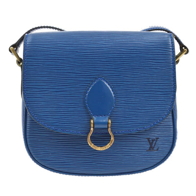 LOUIS VUITTON MINI SAINT CLOUD CROSS BODY BAG BLUE EPI M52215