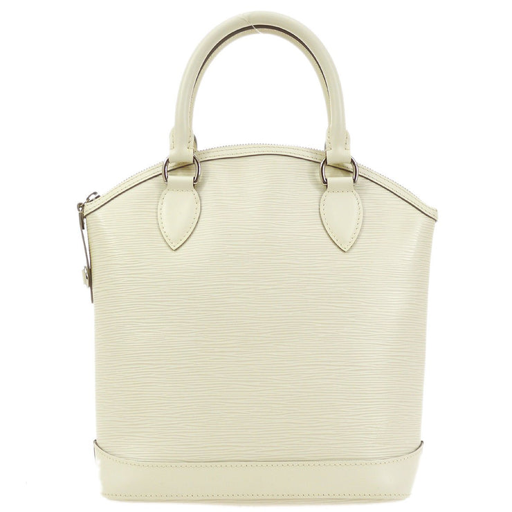 LOUIS VUITTON LOCKIT HAND TOTE BAG IVORY EPI M4229J