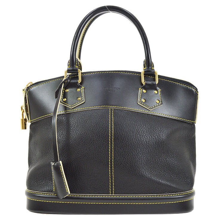 LOUIS VUITTON LOCKIT PM HAND TOTE BAG BLACK SUHALI M91888