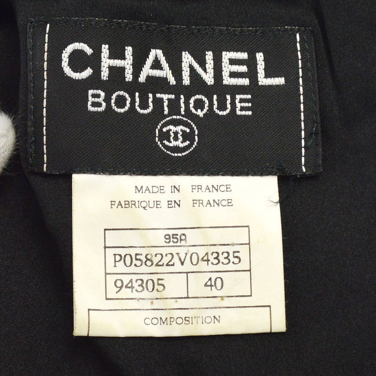 CHANEL #40 CC Logos Button Front opening Setup Suit Jacket Dress 95A