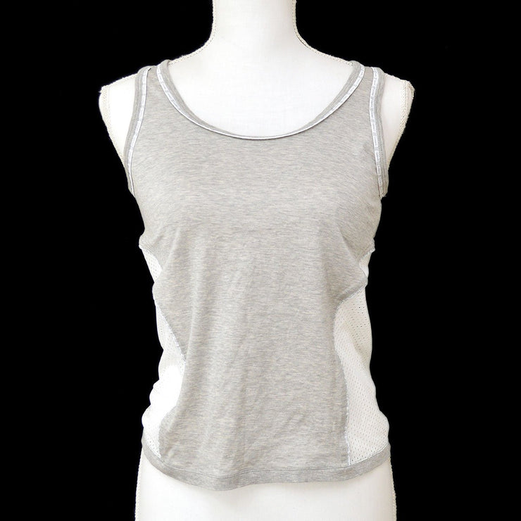CHANEL #38 CC Sport Line Sleeveless Tank top Mesh Gray