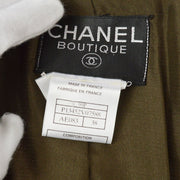 CHANEL #38 CC Zip Up Long Sleeve Jacket Coat Brown