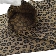 FENDI Single Breasted Leopard Pattern Long Sleeve Jacket Brown