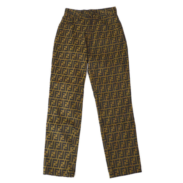 FENDI Zucca Pattern Long Pants Brown