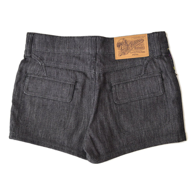 Louis Vuitton Logos Short Pants Denim Jeans Black #34