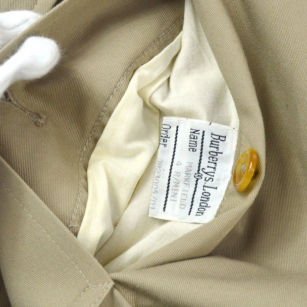 Burberry Long Sleeves Trench Coat Jacket Beige Single Breasted