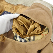 Burberry's Vintage Belted Long Sleeve Trench Coat Jacket Beige