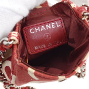 CHANEL By Sea CC Chain Shoulder Bag Pochette Red