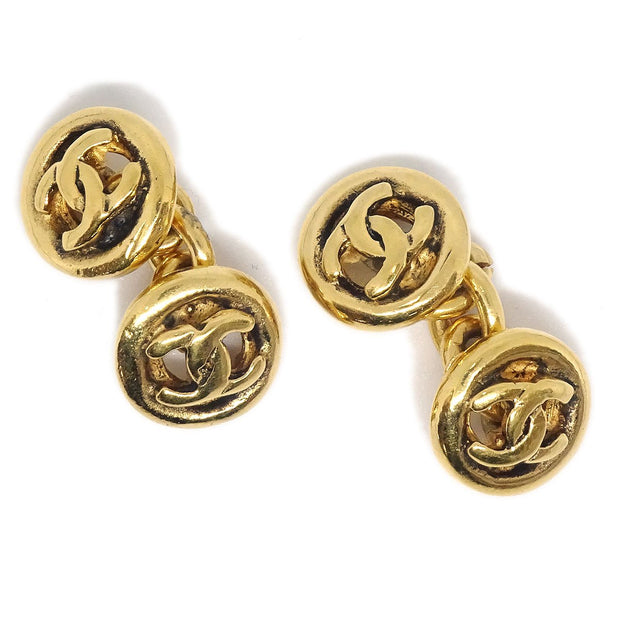 CHANEL CC Logos Cuffs Button Gold