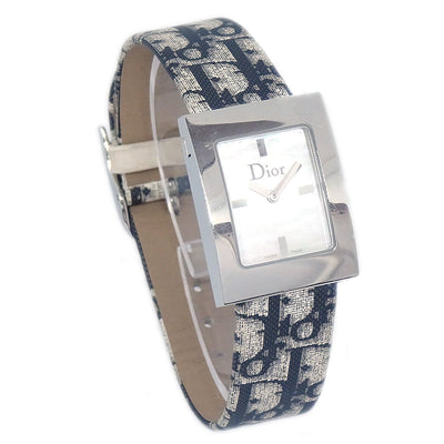 Christian Dior Trotter Pattern Ladies Women Watch Black Gray
