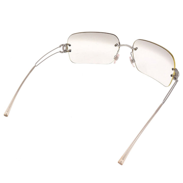 CHANEL CC Sunglasses Eye Wear Clear Plastic