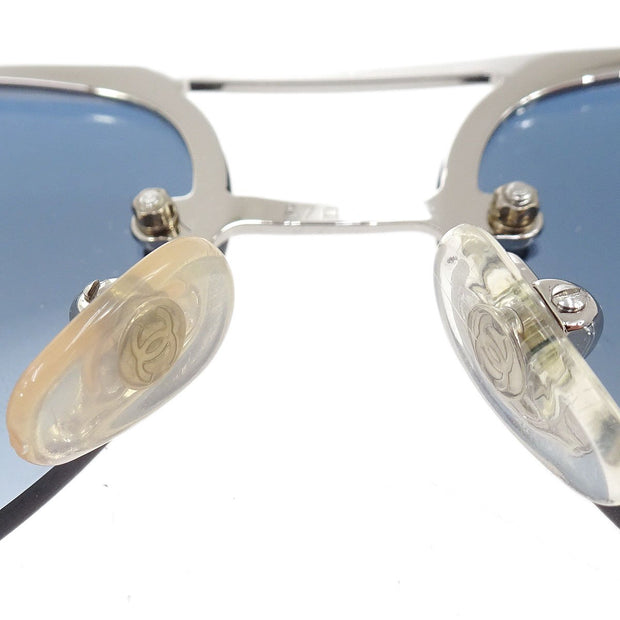 CHANEL CC Sunglasses Eye Wear Blue Plastic