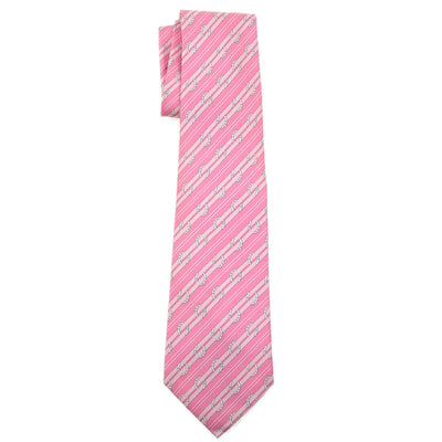 HERMES Cravate Twill Neck Tie Pink