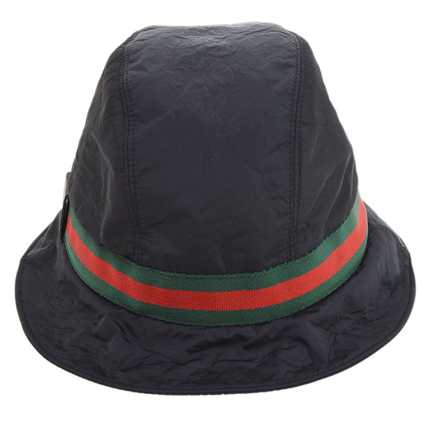 GUCCI Shelly Line Women's Hat Black #XL