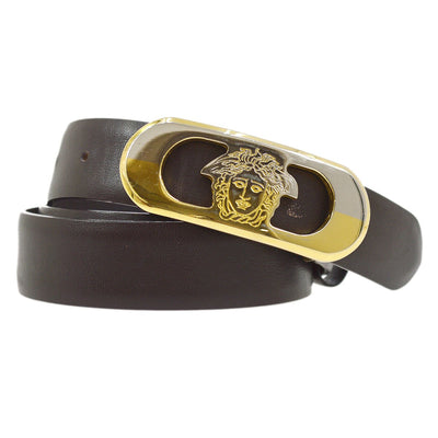 GIANNI VERSACE Medusa Buckle Belt Black 90/36