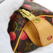 LOUIS VUITTON SPEEDY 25 HAND BAG MONOGRAM CHERRY MURAKAMI M95009