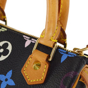 LOUIS VUITTON MINI SPEEDY 2WAY BAG BLACK MONOGRAM MULTI M92644