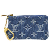 LOUIS VUITTON POCHETTE CLES COIN CASE MONOGRAM DENIM M95343