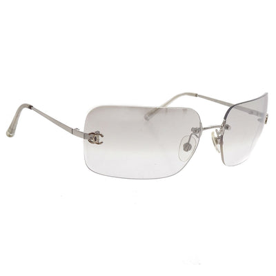 CHANEL CC Sunglasses Eye Wear Clear