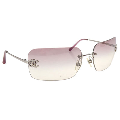 CHANEL CC Sunglasses Eye Wear Purple