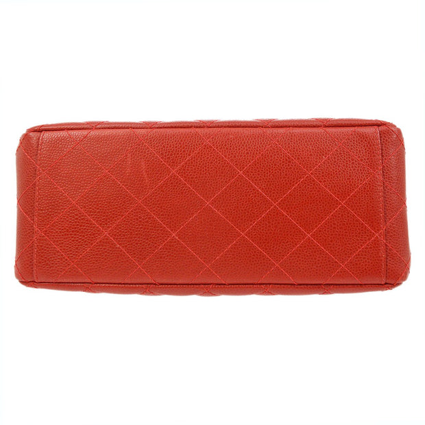 CHANEL Quilted CC Both Side Turn Lock Shoulder Bag Red Caviar