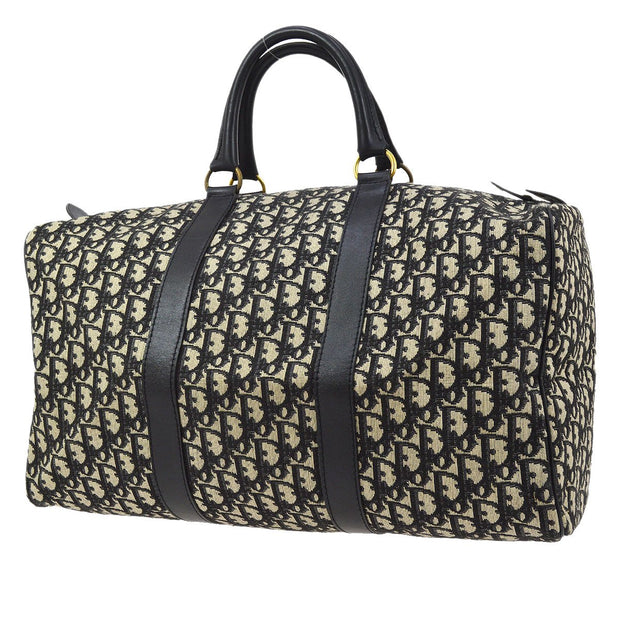 Christian Dior Trotter Pattern Travel Hand Bag Navy