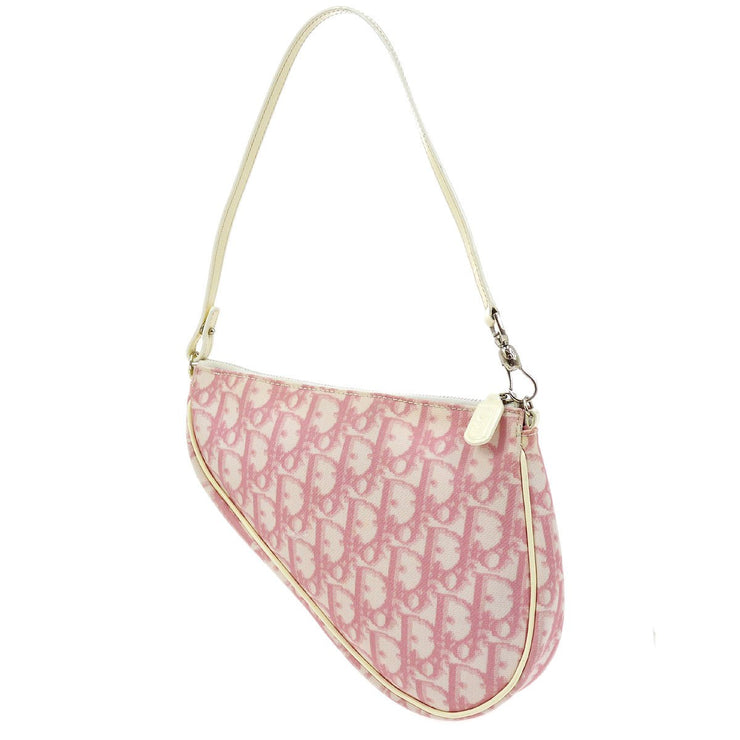 Christian Dior Trotter Saddle Hand Bag Pouch Pink