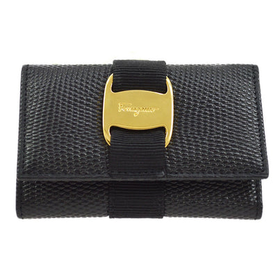 Salvatore Ferragamo Vara Six Hooks Key Case Black