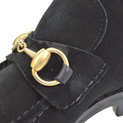 GUCCI Horsebit Shoes Sneakers Black Suede #36 1/2 C