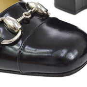 GUCCI Horsebit Pumps Shoes Black #6 B