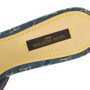 LOUIS VUITTON Open Toe Sandals Shoes Monogram Denim #37