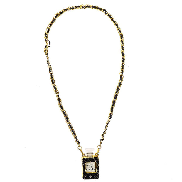 CHANEL CC Logos Gold Chain Perfume Pendant Necklace