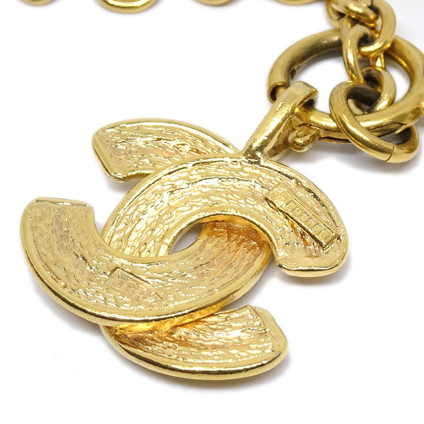 CHANEL CC Quilted Gold Chain Pendant Necklace