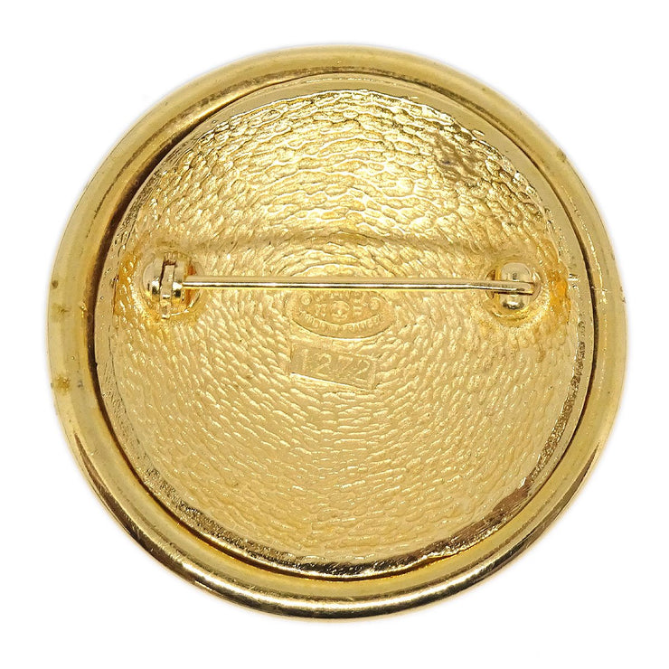 CHANEL Medallion Brooch Pin Gold