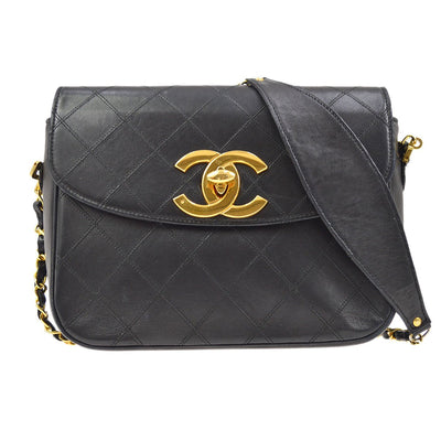 CHANEL Cosmos Line CC Single Chain Shoulder Bag Black