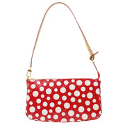 LOUIS VUITTON POCHETTE ACCESSOIRES SHOULDER BAG RED DOTS INFINITY