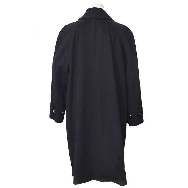 CHANEL Long Sleeve Jacket Coat Black