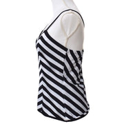 Christian Dior Sleeveless Camisole Tops Black White