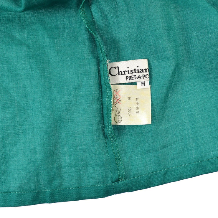 Christian Dior #M Short Sleeve Shirt Tops Green