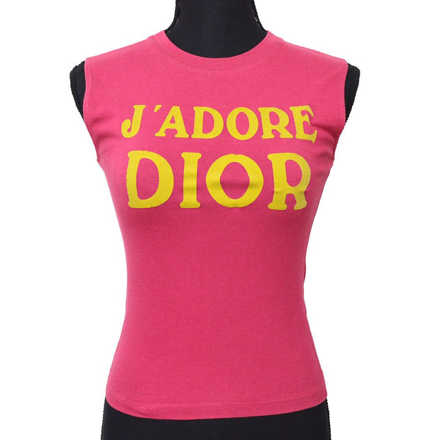 Christian Dior Sleeveless Tops Tank Top Pink