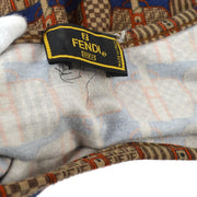 FENDI Bag Pattern Round Neck Short Sleeve T-Shirt Brown