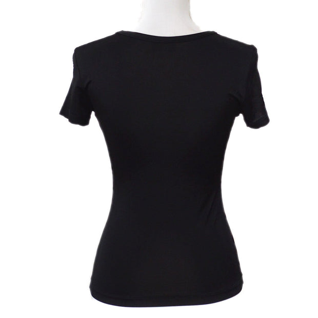 FENDI Round Neck Short Sleeve Tops Shirt Black #42