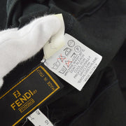 FENDI Round-neck Short Sleeve Tops Shirt Black