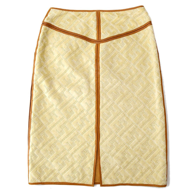 FENDI Zucca Pattern Skirt Beige Brown #40
