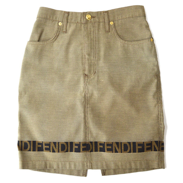 FENDI Above The Nnee Skirt Beige